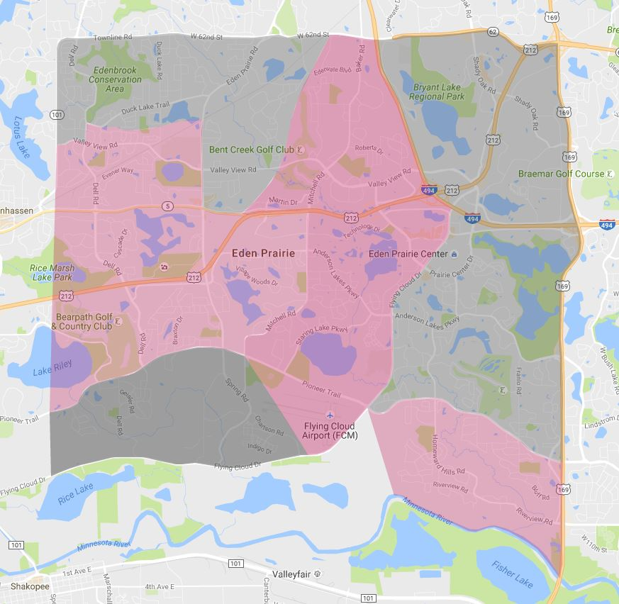 Eden Prairie Recycling Map