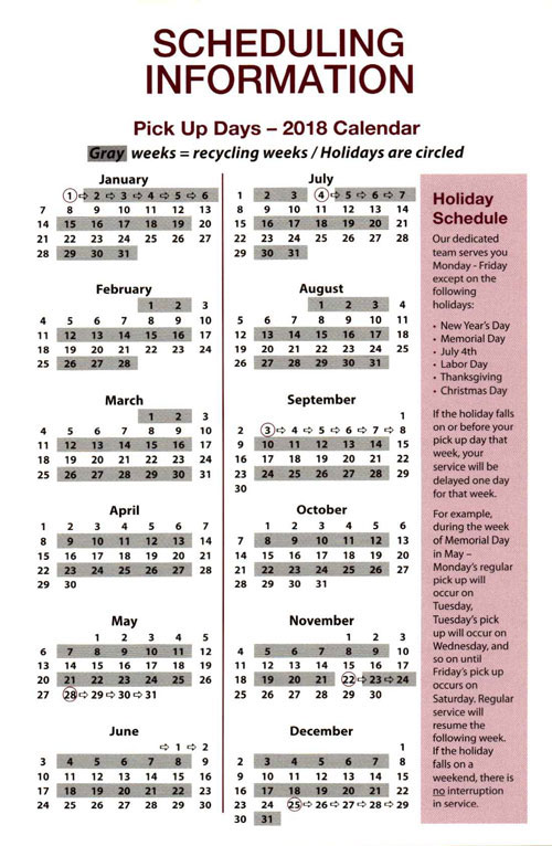 Eden Prairie Recycling Pick Up Calendar